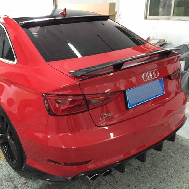 Car StyleFor Audi A3 Sedan Spoiler A3 S3 Carbon Fiber Rear