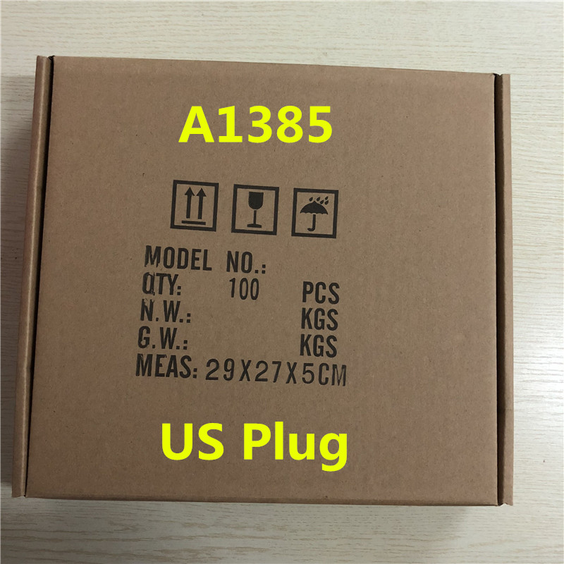 100pcs lot High Quality 5W 5V 1A Wall Charger A1385 US Plug USB Home Wall Charger