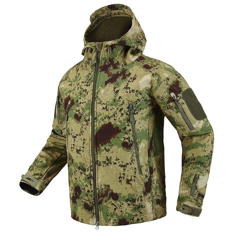 S.ARCHON Shark Skin Soft Shell Tactical Military Jacket Men Fleece Waterproof Army Clothing Multicam Camouflage Windbreakers Men 8