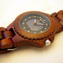 BEWELL Solar Energy Movement Quartz Wooden Watches Luminous Pointers Wristwatch