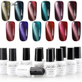 Yaoshun 12pcs 3D Soak Off Cat Eyes Magnetic Nail Gel Polish UV Long Lasting Gel Lacquer Varnish Led Gel