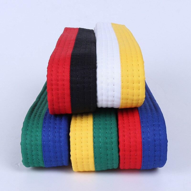 1.8 m 2.4 m Exame Profissional Artesanal Crianças Criança Taekwondo Karate Artes Marciais Cintos Cinto Amarelo Vermelho Verde Azul Preto T