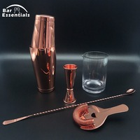 5pcs Cocktail Set Bartender Kit Stainless Steel Cocktail Shaker Mixer Drink Wine Tools Bar Accessories