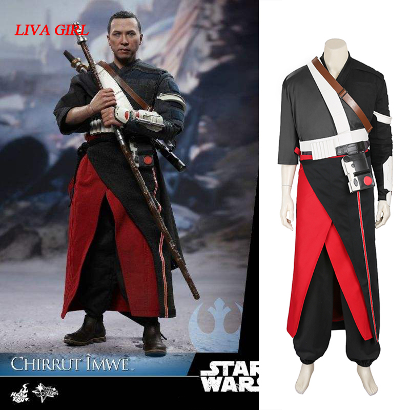 High Quality Rogue One A Star Wars Story Chirrut Imwe Costume adult men Halloween Cosplay Costume star wars costume