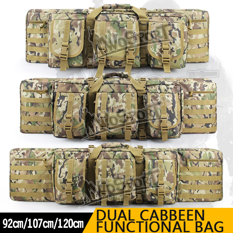 WoSporT Tactical Double Carbine Case dual two rifles bag Large 3642 47 92/107/120cm 1.2m Gun Hunting Shooting paintball new original nmb 9cm9038 3615rl 05w b49 24v0 73a 92 92 38mm large volume inverter fan