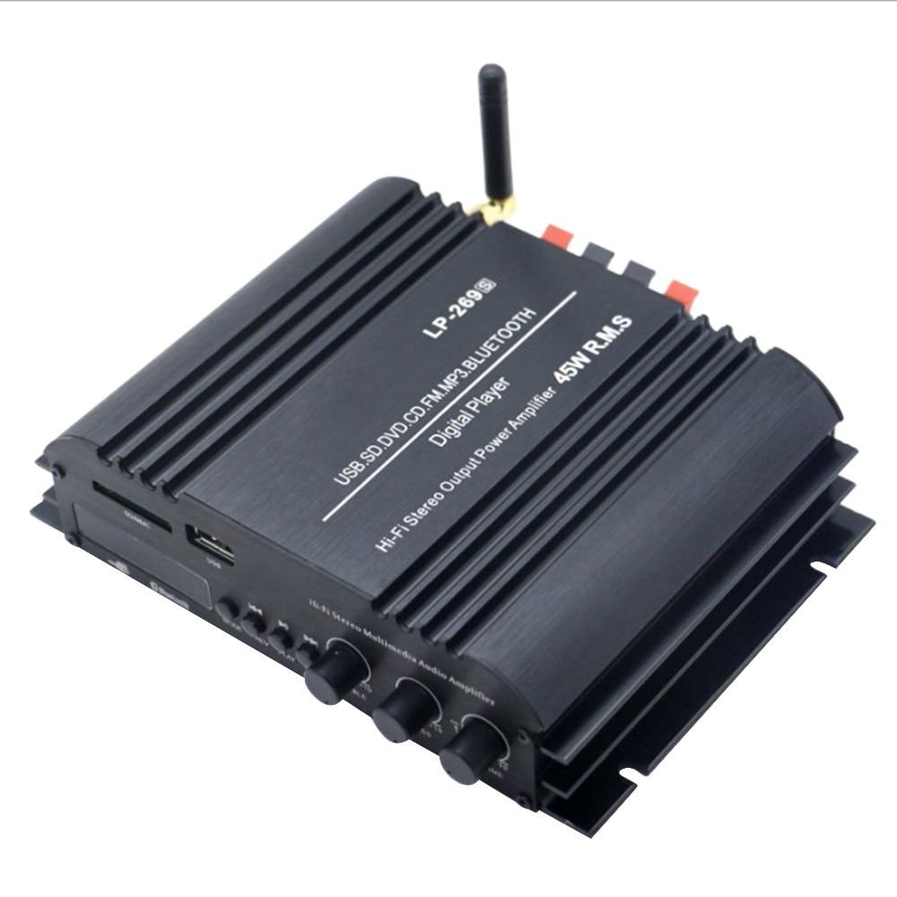 Car Power Amplifier LP 269S HiFi Bluetooth 2 channel Stereo Music Player Audio Support SD USB FM EU PLUG