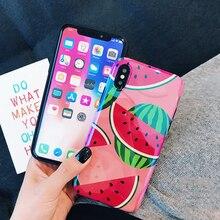 Fruit Pineapple Watermelon Phone Case iPhone  6 6S 7 8 Plus x