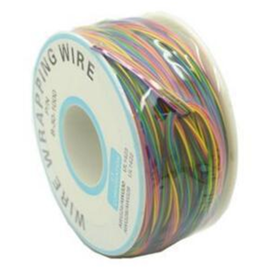 One Roll 8 Colors 30AWG Wire Wrapping Wire Tinned Copper Solid PVC InsulationOne Roll 8 Colors 30AWG Wire Wrapping Wire Tinned Copper Solid PVC Insulation