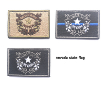 Embroidered Patches United States State Flag Patch Tactical 3D Patches Badge  Nevada Flags Armband Cloth Badge embroidered patches united states new york state flag patch tactical 3d national flags army armband badge