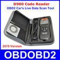 Universal tampa do Motor do Carro do Scanner D900 D900 OBD2 EOBD Leitor de Código de Ferramenta de Diagnóstico Para Carros Multimarcas 2015 Verison Em estoque