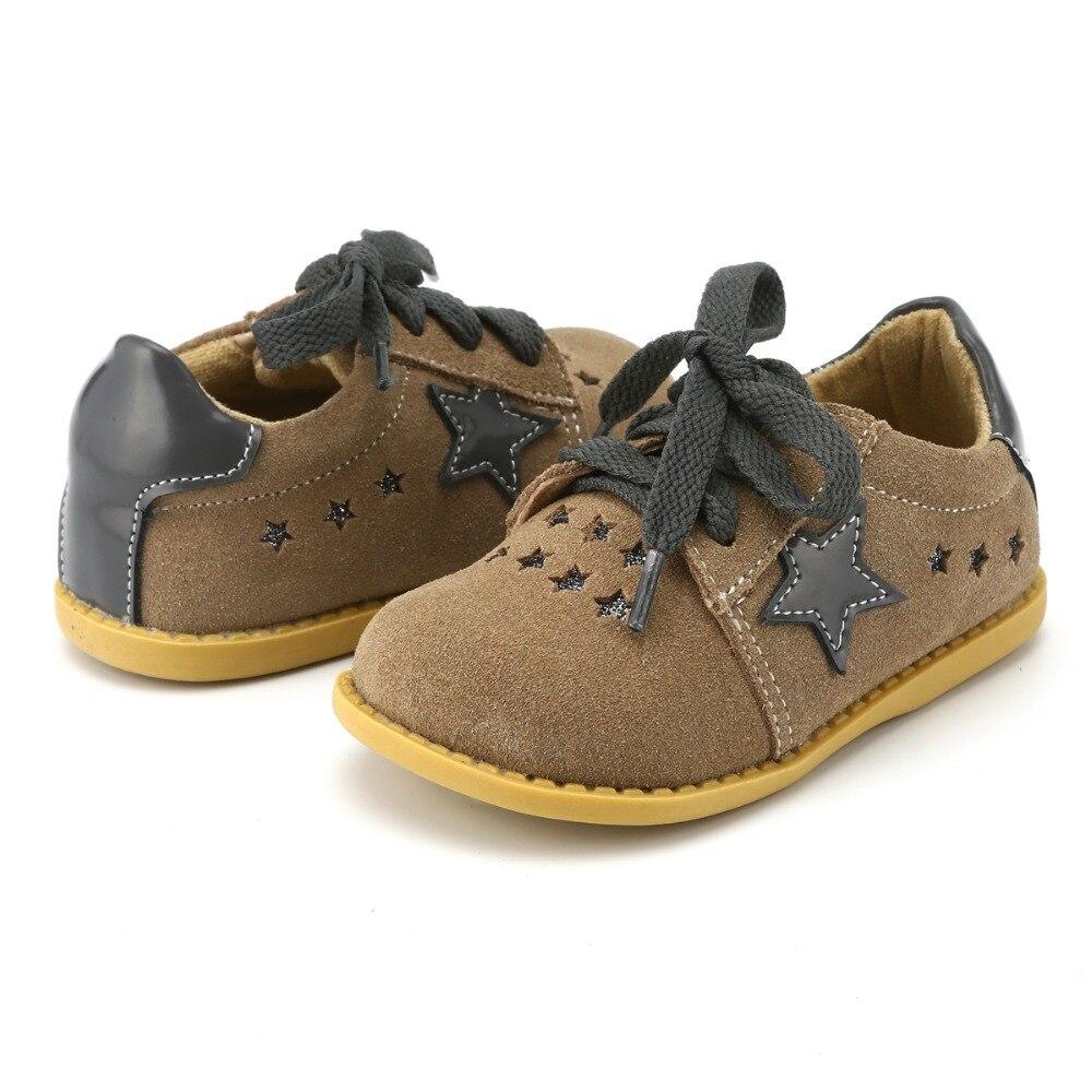 TipsieToes Marque de Haute Qualité En Cuir Véritable Couture Enfants Enfants Chaussures Étoiles Pour Garçons Et Filles 2018 Apring Nouvelle Arrivée