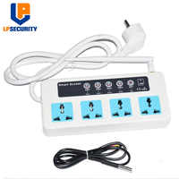 SC4 GSM SMS Wireless 4 Outlets Smart Switch Power Plug socket module controller y temperature sensor optional 10A