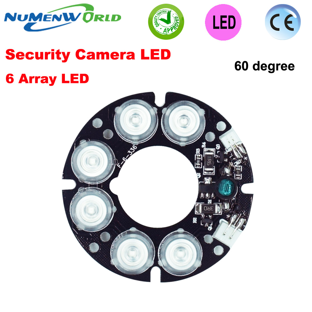 Hot Low fever Good quality 6 array LED IR Leds Board 60 degree Far Infrared Lamp Board for 60 diameter CCTV Camera system cjwy 158 12v 48w 60 degree infrared array camera led light board black