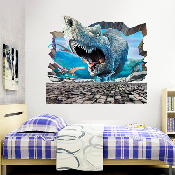 3D Jurassic World Park Dinosaurs Wall Stickers For Kids
