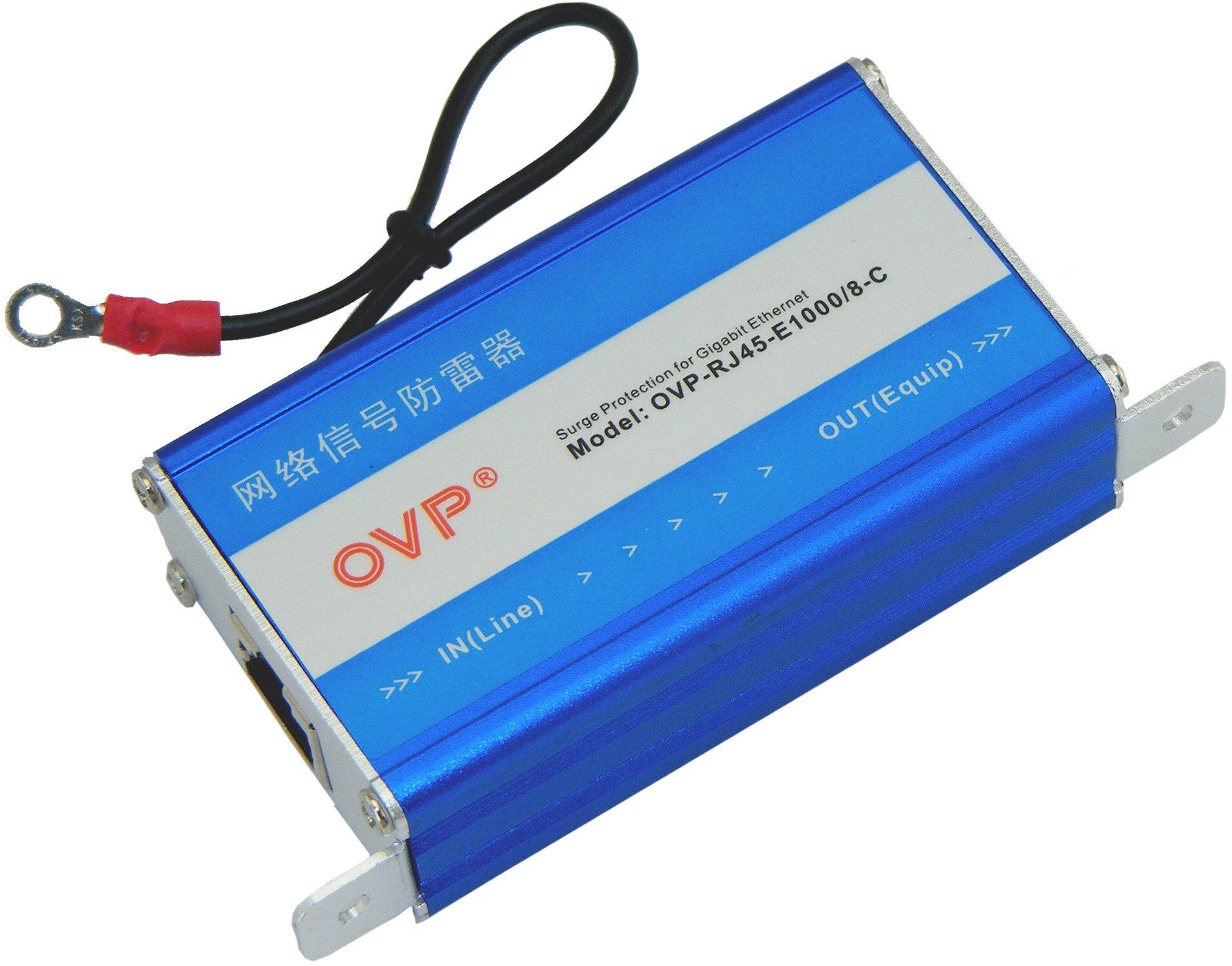 OVP di Rete Gigabit Dispositivo di Protezione Contro I Fulmini 1000 Megabit Rete Segnale ParafulmineOVP di Rete Gigabit Dispositivo di Protezione Contro I Fulmini 1000 Megabit Rete Segnale Parafulmine