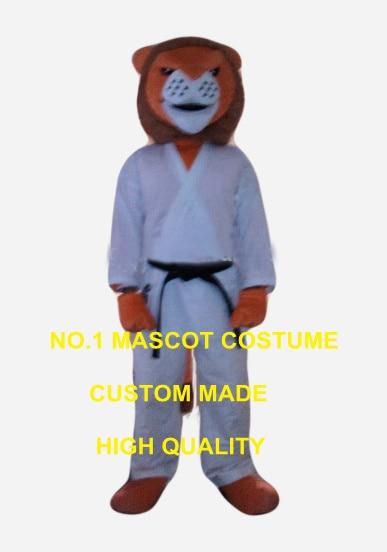 judo lion mascot costume wholesale adult size cartoon judo theme anime cosplay costume carnival fancy dress kits 2600
