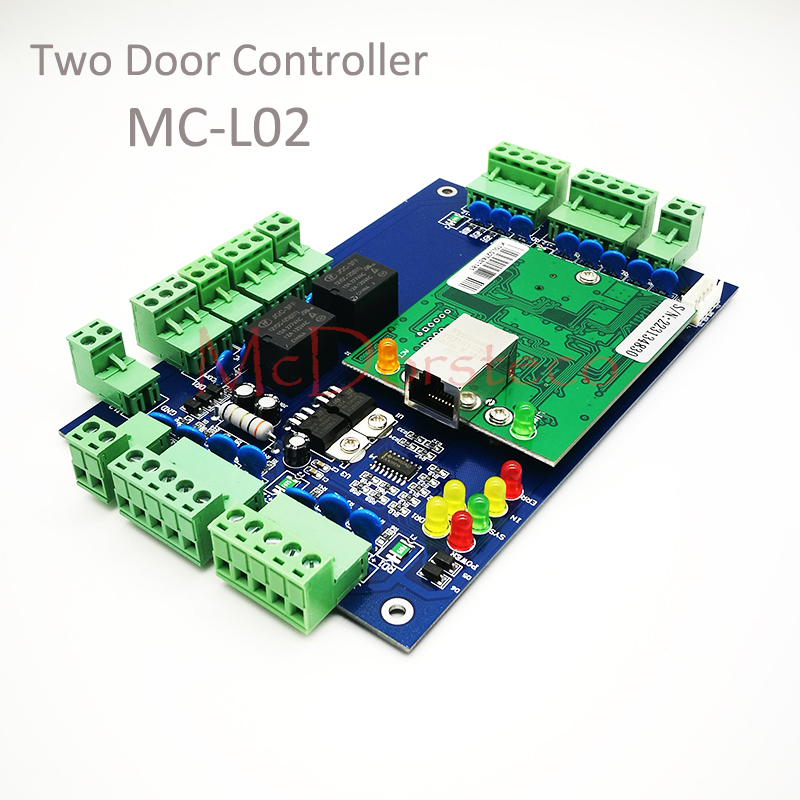Access Control 2 Door Access Control Panel Door Security Access Control System L02 Security & Protection Intellective High Quality Wiegand Tcp/ip Two Doors Access Control Board