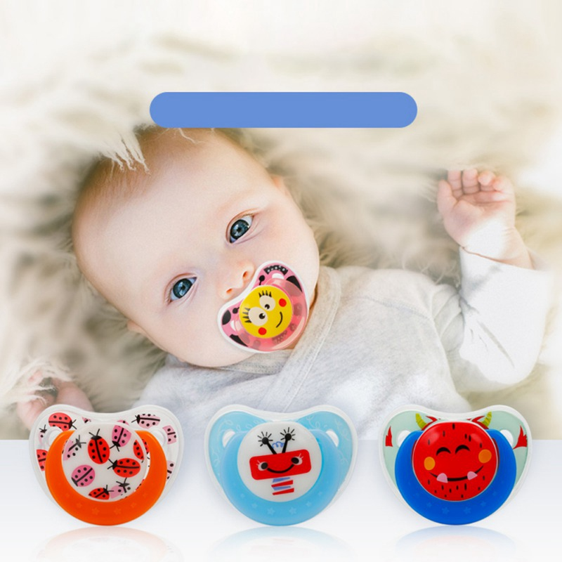 Baby Novelty Silicone Pacifier Cartoon Pattern Nipple Pacifiers Feeding Orthodontic Dummy Soother Anti-dust Lid Infant Teether