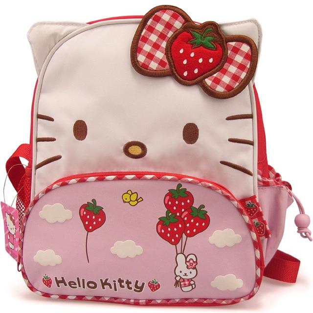 IVI Hot sale  kindergarden Children Girls Hello Kitty bags Mini Backpack Catoon School Bag Students New Year Christmas gift
