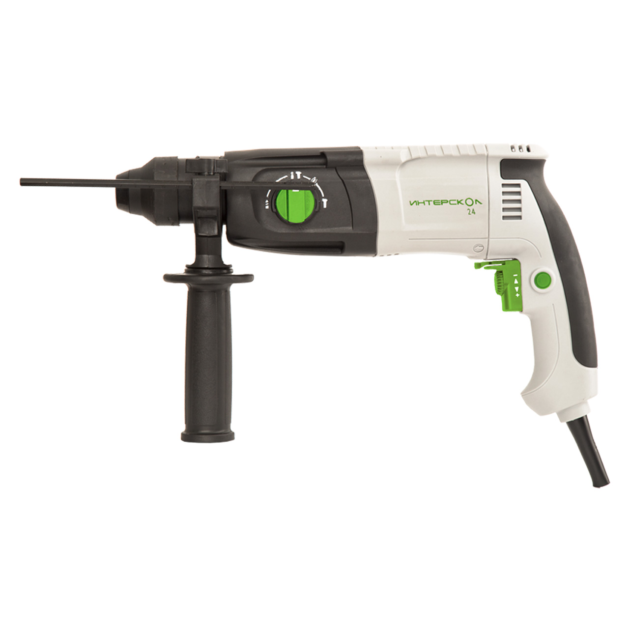 Rotary hammer electric Interskol P-24/650ER DM rotary hammer electric pobeda p 20 620 sds