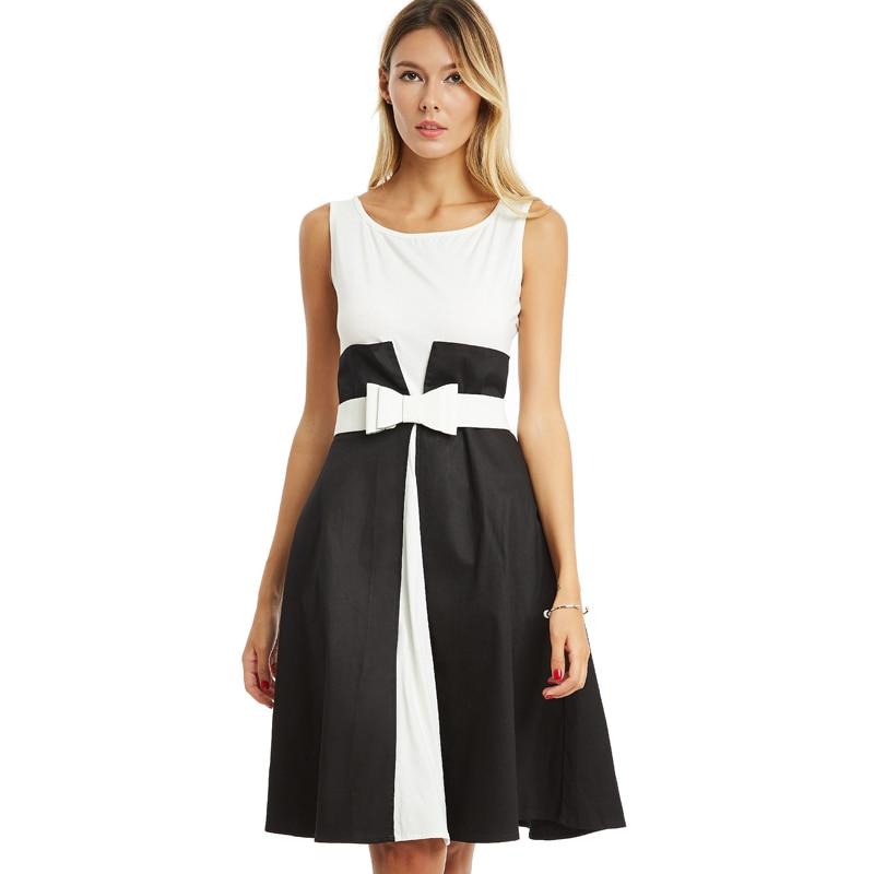 Zwart wit jurkje met strik