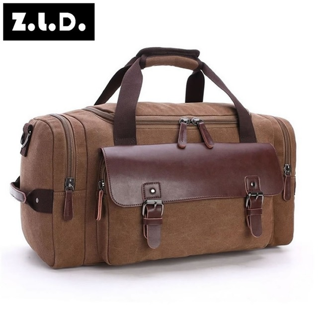 ZUOLUNDUO High Capacity Travel Bag Men Hand Luggage Travel Duffle Bags Male Fashion Crossbody Bags 6 Colors Big Tote Weekend Bag