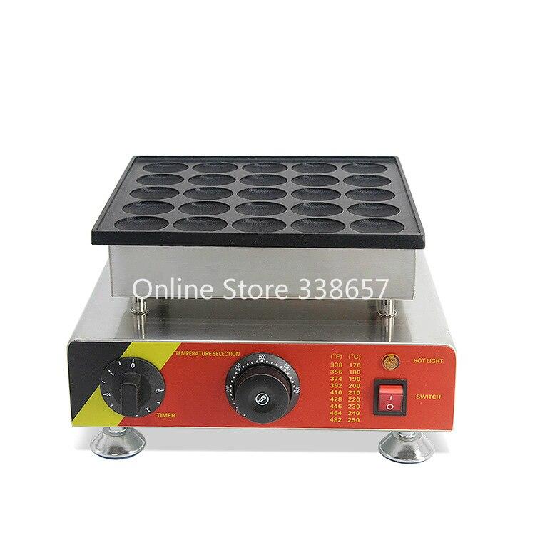 25 holes commercial biscuit mini pancake Dutch Poffertjes waffle maker baker machine 220v 110v