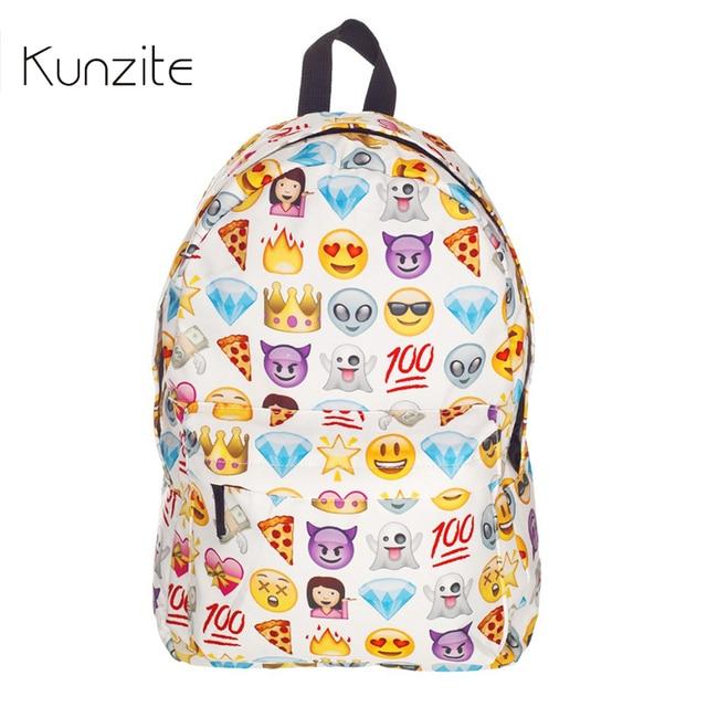 Women Emoji Printing School Bags Children Canvas Backpacks For Teenager Girls  Casual Laptop Backpack Kids Book Bags Sac A Dos c8d5ec66cbba1
