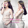 New Photography Props clothing for Pregnant women Beautiful lace Dress Pregnancy sexy set Princess Costume Baby Shower Free size