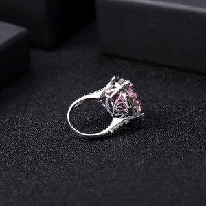Image 4 - GEMS balet Natural Rainbow Mystic kwarcowy pierścionek koktajlowy 925 Sterling Silver nieregularne pierścienie z kamieniami szlachetnymi Fine Jewelry dla kobiet