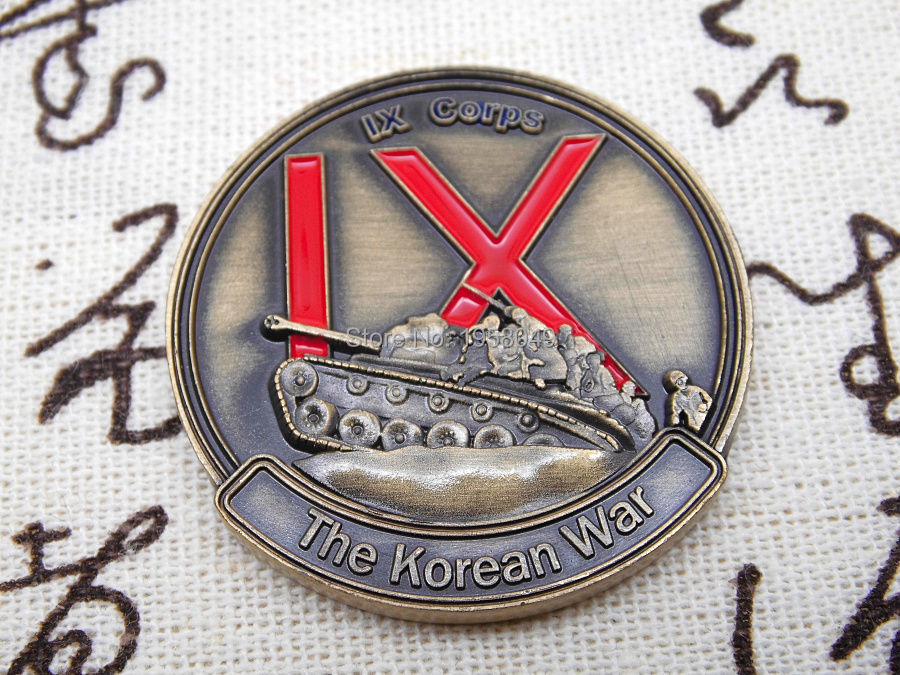US ARMY IX CORPS KOREAN WAR THE FORGOTTEN WAR 38TH PARALLEL CHALLENGE COIN (1).jpg