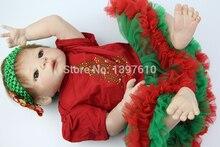 23 Inch Reborn Babies Doll Full Silicone Vinyl Baby Newborn Doll Realistic Baby Girl Children Best Gift