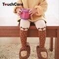 Animal bonito Dos Desenhos Animados Fox Menina Meias Infantis Do Bebê Das Crianças Dos Miúdos de Malha de Algodão Macia e Quente de Alta Meia-calça Meias