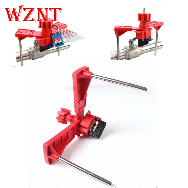 free shipping 2 Arms Universal Safety Valve Lockout Tagout Valve Lock