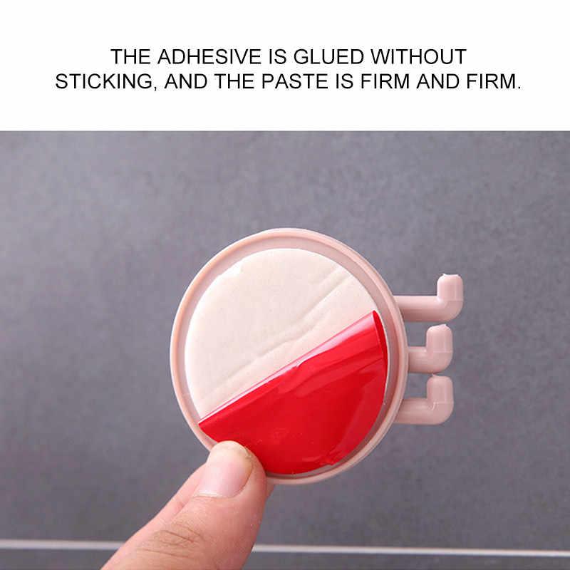 1 pc シームレス粘着フック接触 5 キロ回転可能な強力なスティックフック台所の壁ハンガー浴室キッチンフック上ドア