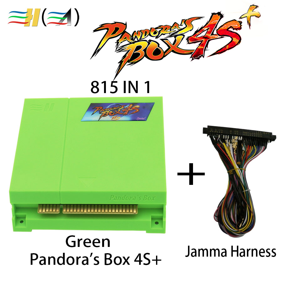 Pandora Box 4S+ HDMI 815 in 1 Jamma Multi Game Board Pandora's Box 4S+ Multi Arcade Game Board Pandora Box 4 HD for Video Games replacement main board pc motherboard for 2019 in 1 game family pcb spare parts replace main board for 2019 in 1 multi game box