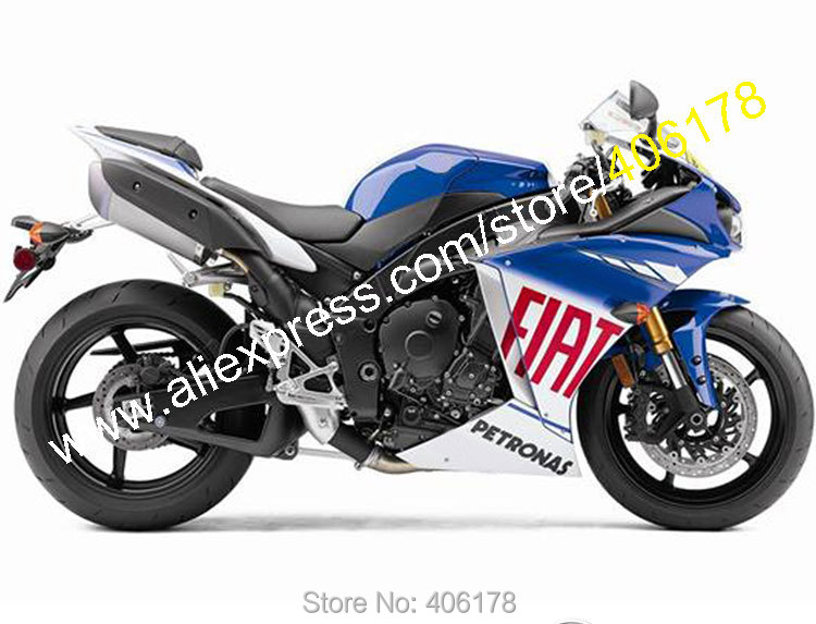 Hot Sales,Aftermarket For Yamaha 2009 2010 2011 YZF R1 YZF-R1 09 10 11 YZFR1000 R1 FIAT Motorcycle Fairing (Injection molding)