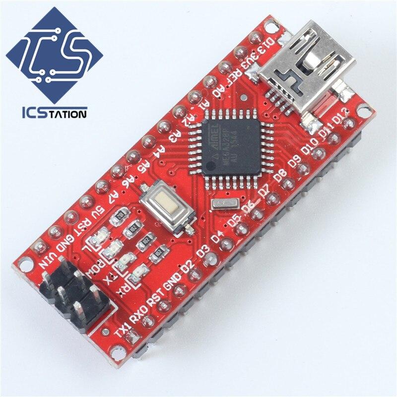 ATMEGA328P Nano V3.0 R3 Board Mini USB CH340 Compatible for Arduino Nano Controller Board Header Reset Button evernet ch340 s