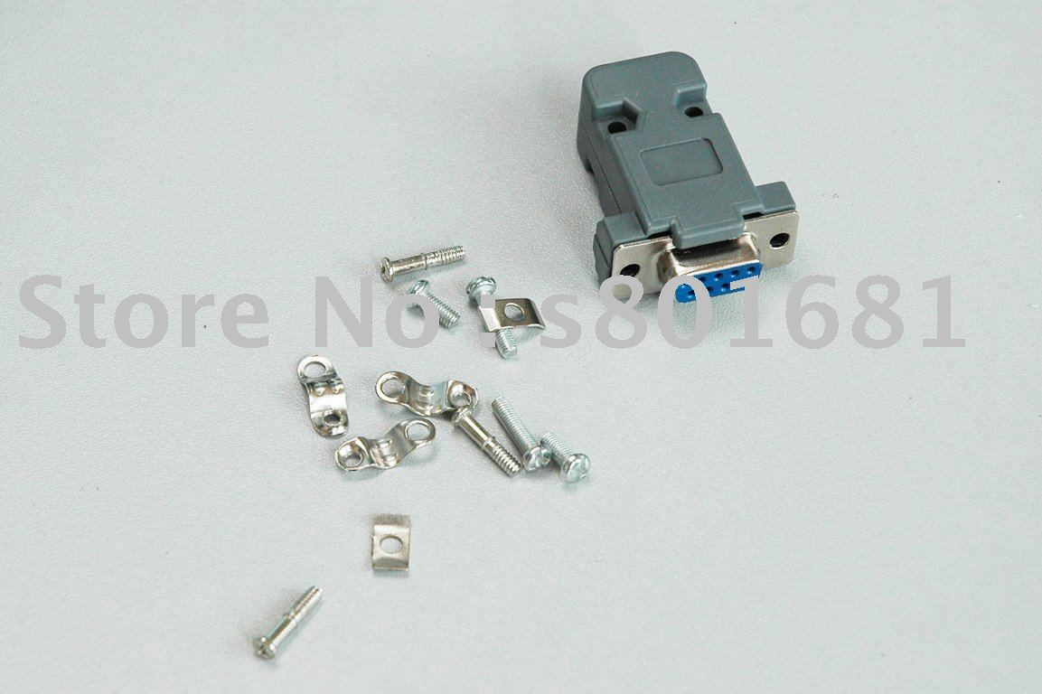 Tracking number Free Shipping 100sets Plastic Hood Cover Screws D9 male or female connector for 9Pin