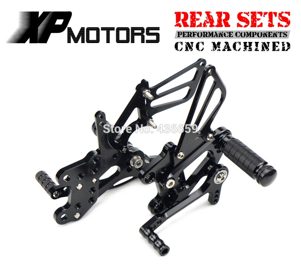 Adjustable Black CNC Billet Racing Rearset Foot Pegs Rear Sets For Honda CBR600RR/ABS 2009 2010 2011 2012 2013 2014 car rear trunk security shield shade cargo cover for nissan qashqai 2008 2009 2010 2011 2012 2013 black beige