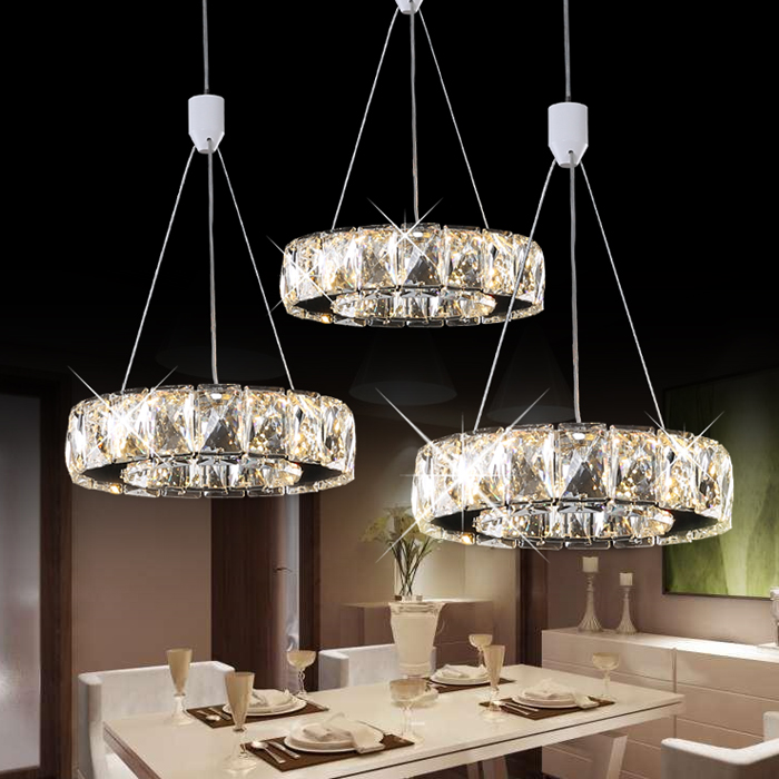 lamp aisle dining pendant lights crystal LED modern minimalist restaurant round three crystal pendant SJ4150 наручные часы casio bga 190kt 7b