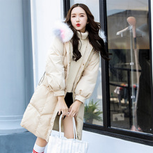 Fashion women's down jacket in the fashion women's down jacket long section real hairy collar hooded Women's winter clothing