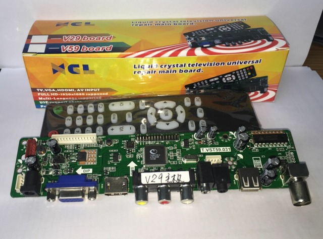 a03d38f83de xcl V29 Universal LCD Controller Board TV Motherboard VGA HDMI AV TV USB  Interface with remote