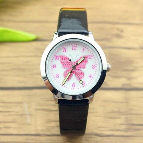 JOYROX Relogio Relojes Kol Saati 3D Colorful Butterfly Watches Children Kids Girls Gift Watch Casual Quartz Wristwatch Student Multan