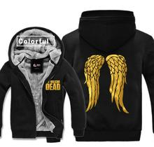 High Q bronzing The Walking Dead Daryl Dixon Wing hoodies jacket gilding Daryl Dixon lovers Cardigan