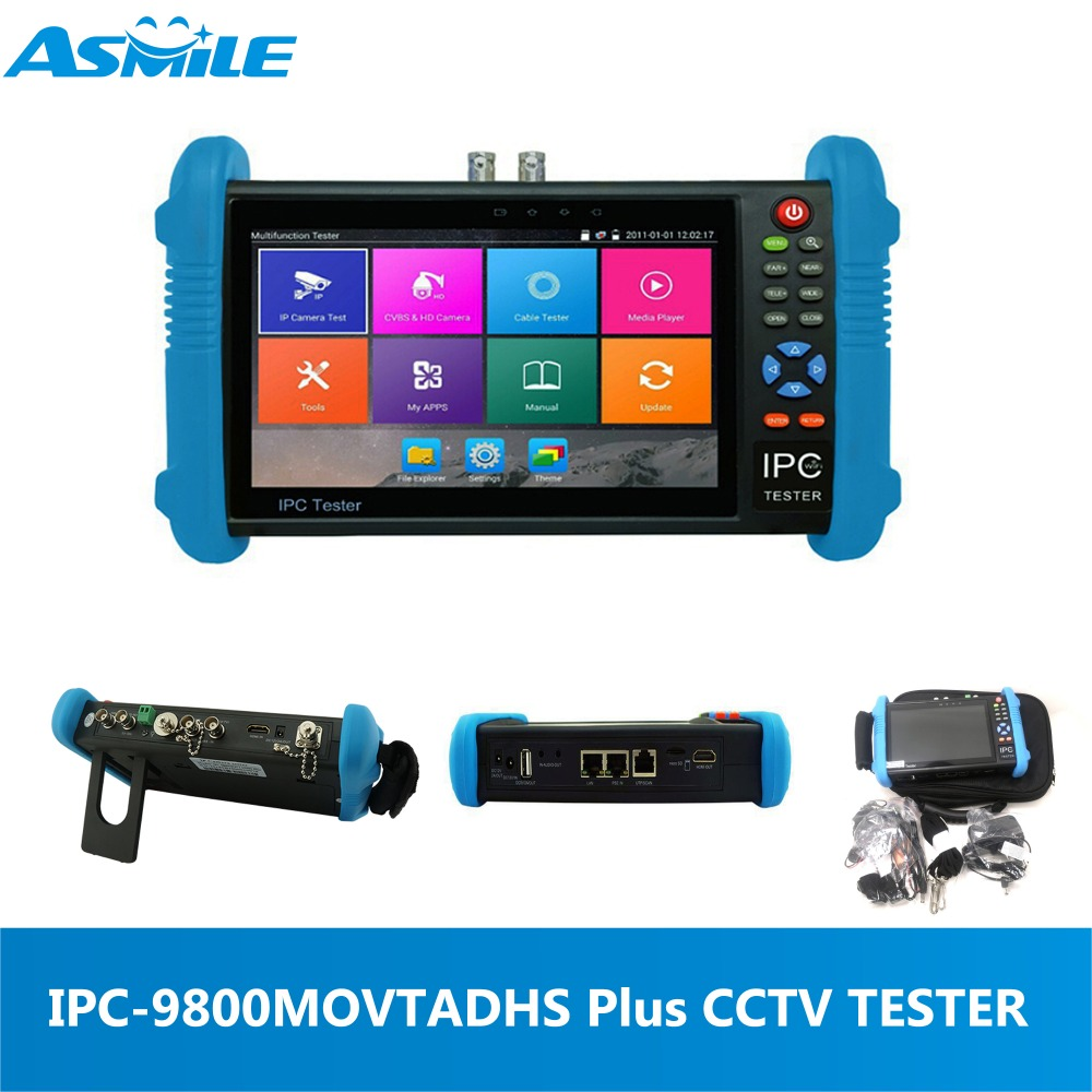 New Design 1280x800 Resoluction Ip Camera Tester With 7 Inch Ips Touch Screen For IPC9800ADHS PLUS