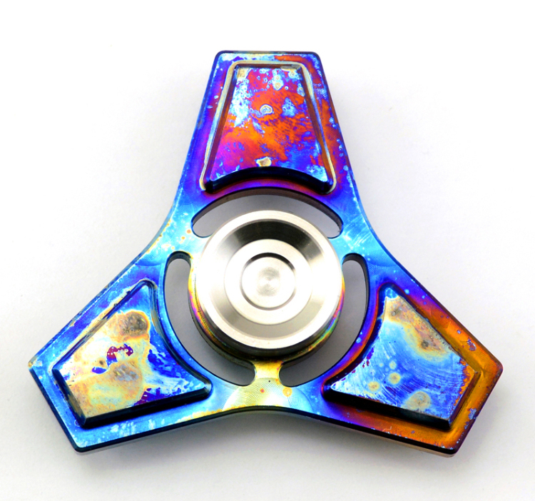 ФОТО 2017 EDC Toys Professional Tri-Spinner Fidget Toy Metal Hand Spinner Torqbar Brass Fidget Spinner and ADHD Children Adults Toy