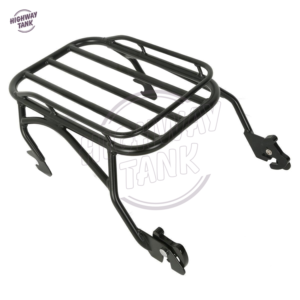 Black Motorcycle Detachable Solo Luggage Mounting Rack Case for Harley Road King Custom FLHR 1997-2008 2008 donruss sports legends 114 hope solo women s soccer cards rookie card