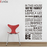CLSTROSE Offer Hot Sale Size House Rules Wall Stickers Family English Quotes Decals Decorative Letters Home Decor Posters