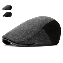 Autumn Winter Berets for Men Casual Wool Caps Classic Solid Berets Men and Women British Style Visors Hats Adult Flat Casquette
